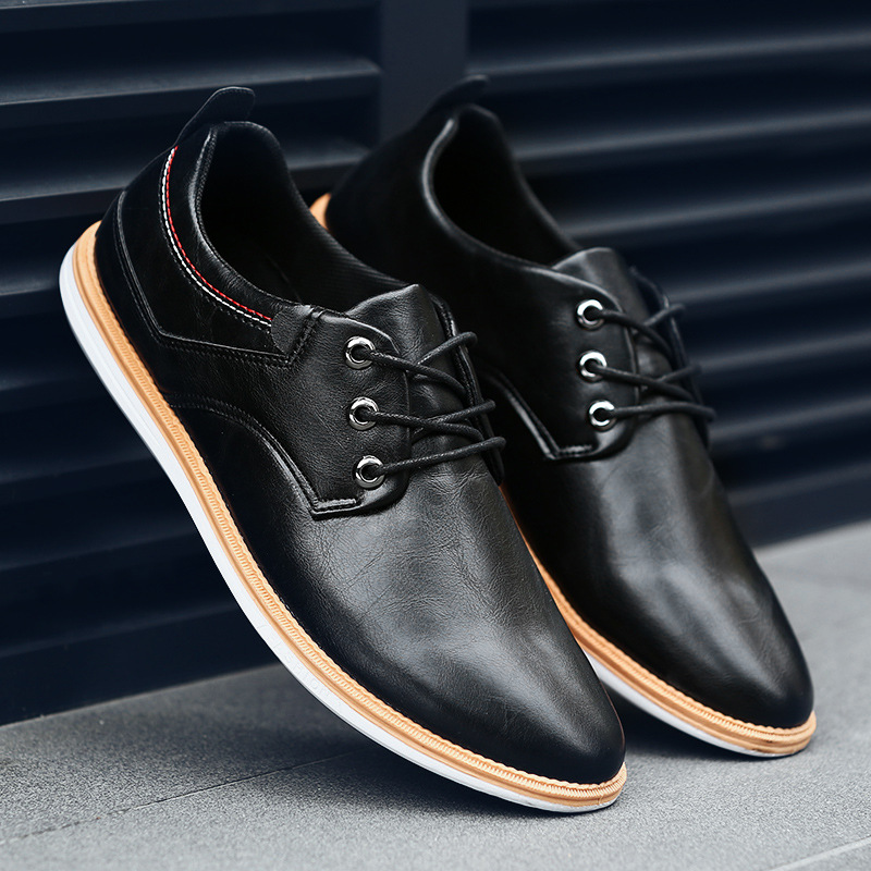 New Summer Men Shoes Breathable Men's Casual Shoes Fashion Lace Up Leather Men Flat Shoes Formal Business Shoes Oxfords For Male mycolen new arrived brand men shoes black oxfords shoes pointed toe men flat business formal shoes lace up men s dress shoes