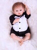 Sudoll About 18 Handmade Lifelike Newborn Baby Doll Reborn Soft Silicone Vinyl cute bb doll