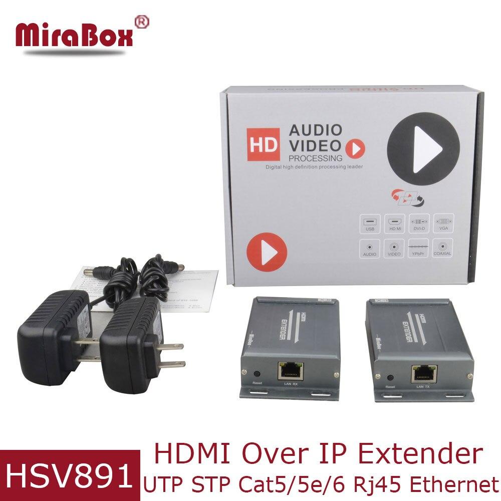 Mirabox TCP IP HDMI UTP Extender Cat5 door Rj45 met Audio Extractor HD 1080P HDMI Zender Ontvanger via Cat5e /Cat6 over IP-in HDMI Kabels van Consumentenelektronica op AliExpress - 11.11_Dubbel 11Vrijgezellendag 1
