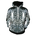 2017 Cool 3D Skeleton Print Men Hoodies Sweatshirts Pullovers Men Women Couples Loose Hoody Tracksuits Hip Hop Steetwear Clothes