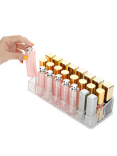 Lip Gloss Holder Organizer, 24 Spaces Clear Acrylic Makeup Lipgloss Display Case