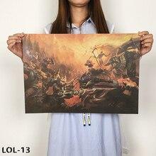 Новая Лига плакат с легендами онлайн-игры Ретро плакат, крафт-бумага бумажный плакат спальни интернет кафе элемент декоративной живописи L-13