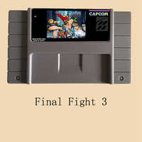 Final Fight 3 16 bit Big Gray Super Game Card For NTSC/PAL Game Player
