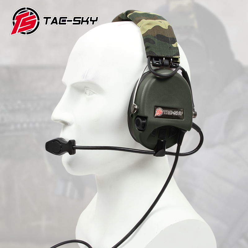 TAC SKY Airsofte Sordin silicone earmuffs noise reduction pickup military tactical hunting shooting headphones FG