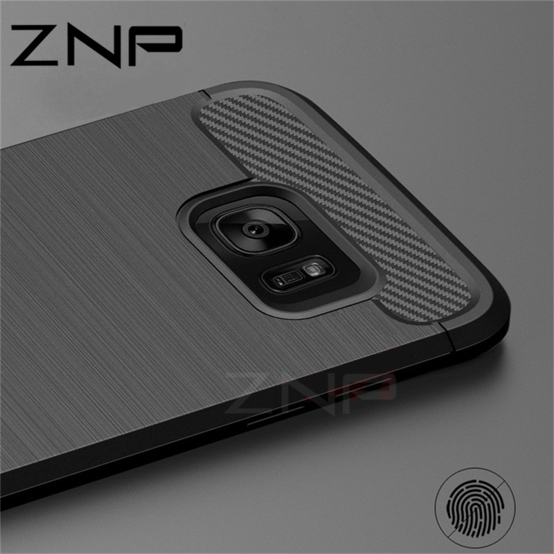 ZNP Soft Silicone Fiber Cases For Samsung Galaxy S6 S7 edge S8 Plus Cover For Samsung Galaxy J5 J7 A3 A5 A7 2017 Note 8 S8 Case nokia 8 new 2018