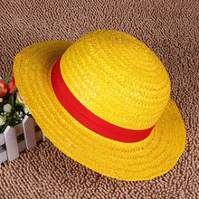 COSPLAY Anime historieta del sombrero de paja Props sombreros Luffy Anime  Botero Beach Strawhat regalo de Halloween para niños n. 943457edb33