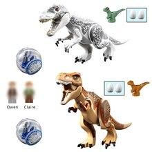 2Pcs/Sets 79151 Legoings Jurassic Dinosaur World Figures Tyrannosaurs T-Rex Building Blocks Bricks Compatible Legoes