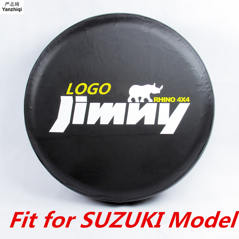 Four colors PVC Leather Space-Saving Spare Wheel Protective Cover car accessories for 2012 2013 2014 Suzuki jimny 14# tire