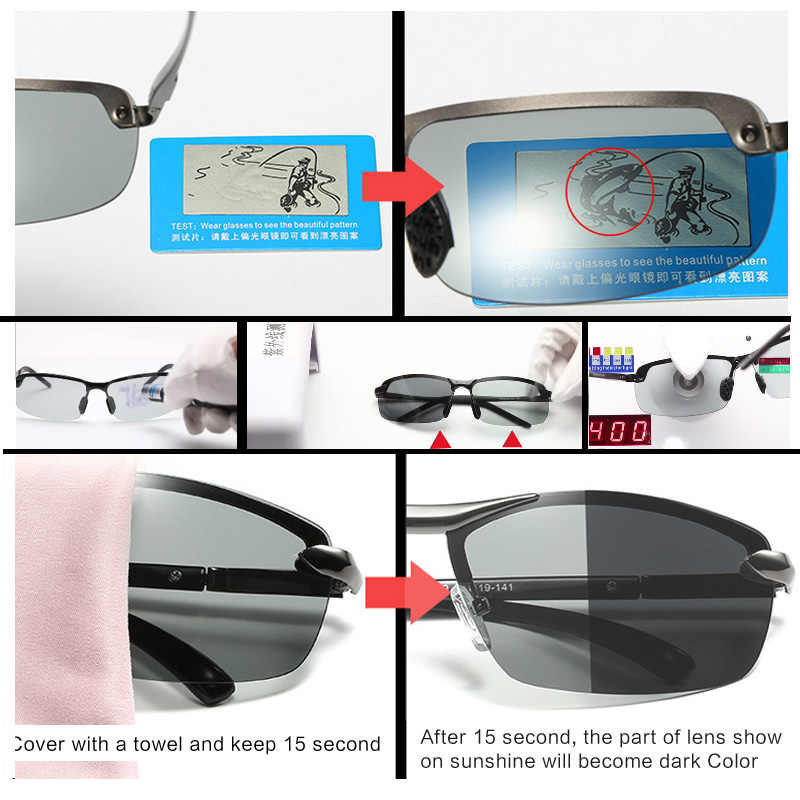 ... AOWEAR HD поляризованные фотохромные солнцезащитные очки для мужчин  вождения Хамелеон очки мужской день ночь драйвер Óculos ... a4003c13216
