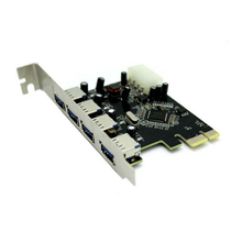 PCIe Card converter adapter/PCI-express expand add on card USB 3.0 4Port transfer rate up to 5GB/s for PC Computer/desktop
