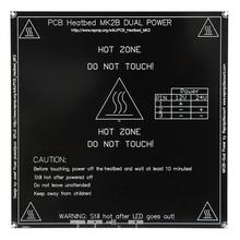 3d-принтер Heatbed MK2B Dual Power PCB Плита Кровать для Пруса и Менделя Черный