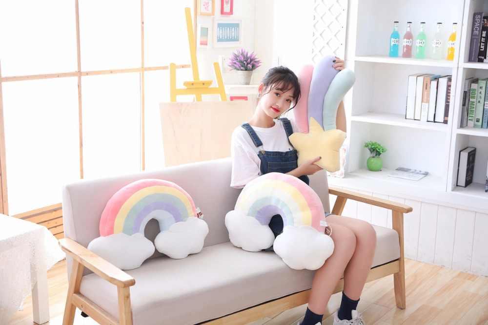 סיטונאי בפלאש צעצוע Kawaii שמיים סדרת תינוק שינה כרית ירח רך ירי כוכב קשת מעטפת כרית חדר מתנה