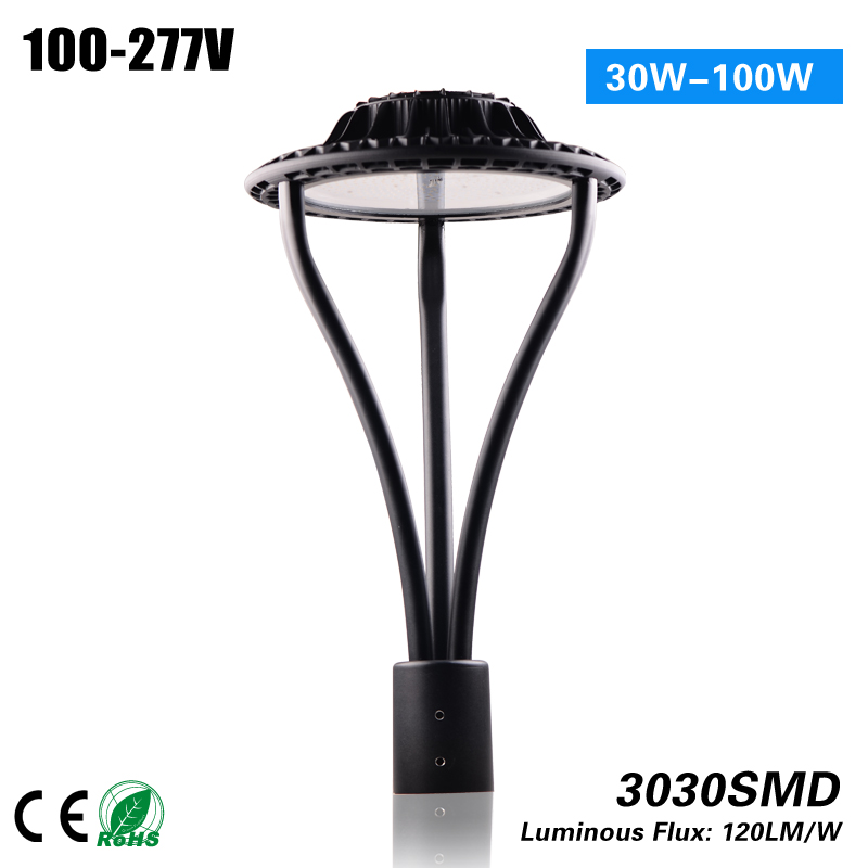 5 Years Warranty ETL DLC 3900lm Led Light Post Top Light