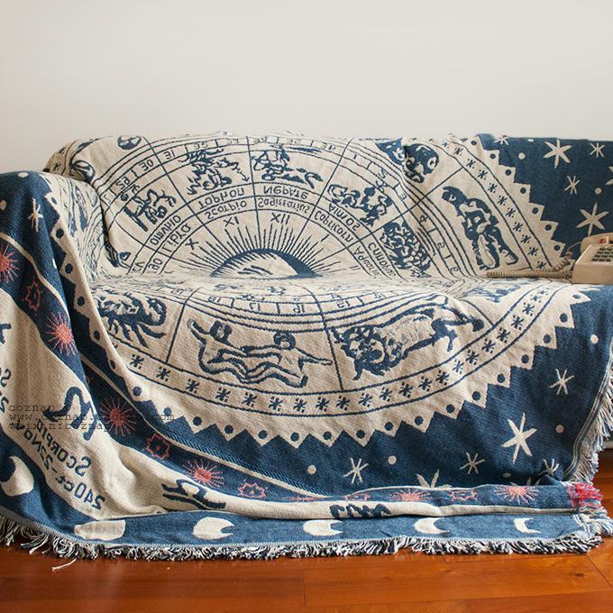 100% cotton sofa cloth blankets picnic rug sofa set sofa blanket color picnic set