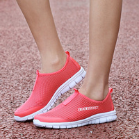 2016 New Women Summer Mesh Shoes Women Slip On Super Cool Water Shoes Walking Comfortable Breathable