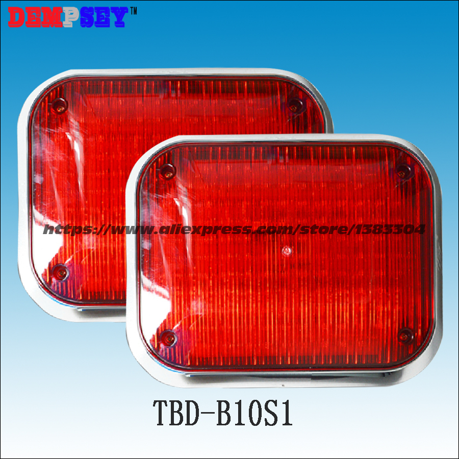 Dempsey Super Bright Led Strobe Emergency Warning Light Police Flashing Lightbar Grille Truck Beacon LED Side Lights(TBD-B10S1) 10 led led beacon magnetic bolt recovery flashing warning strobe light lightbar amber
