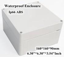 Abs Ip66 Waterproof Enclosure Electronic Plastic Box 160*160*90mm 6.30