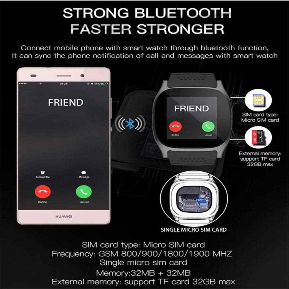 K6 Bluetooth Smart Watch Camera Facebook Whatsapp Support 2G SIM TF Card  Call Smartwatch for Samsung Galaxy S9 Plus PK Q18 DZ09