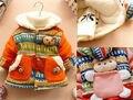 Мужской 3 6 9 12 Месяцев Ребенок Девушки Дети Мальчик Одежды зима 3D Медведь Богемия Куртки Outwears Топы Толстовки Snowsuit Snowwear Пальто