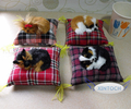 (4 pcs/lot) Mini Furry Sleeping Puppy Toy Model Lovely Doggie Minifigures Car Desk Decoration Figurine Girls Gift Free shipping