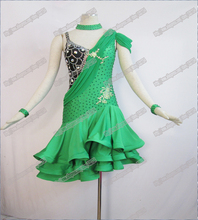 Adult  Latin dance wear,salsa competition dress tango samba rumba chacha dance dress,dance dress latin L-0047