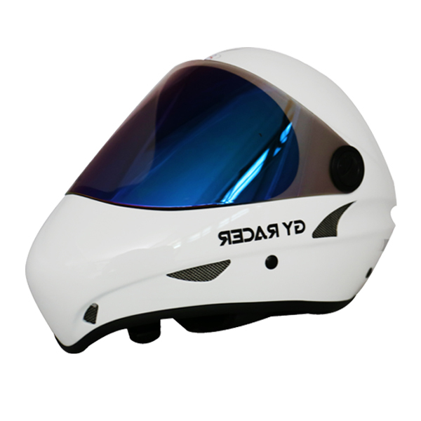 Fiberglass Longboard Skateboard Helmet For Downhill Skateboard Sport White Free Shipping