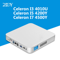 XCY Intel Core i7 4500U i5 4200U i3 4010U USB3.0 Bluetooth Linux микро компьютер Win10 HTPC WiFi VGA HDMI Mini PC столы, компьютерный