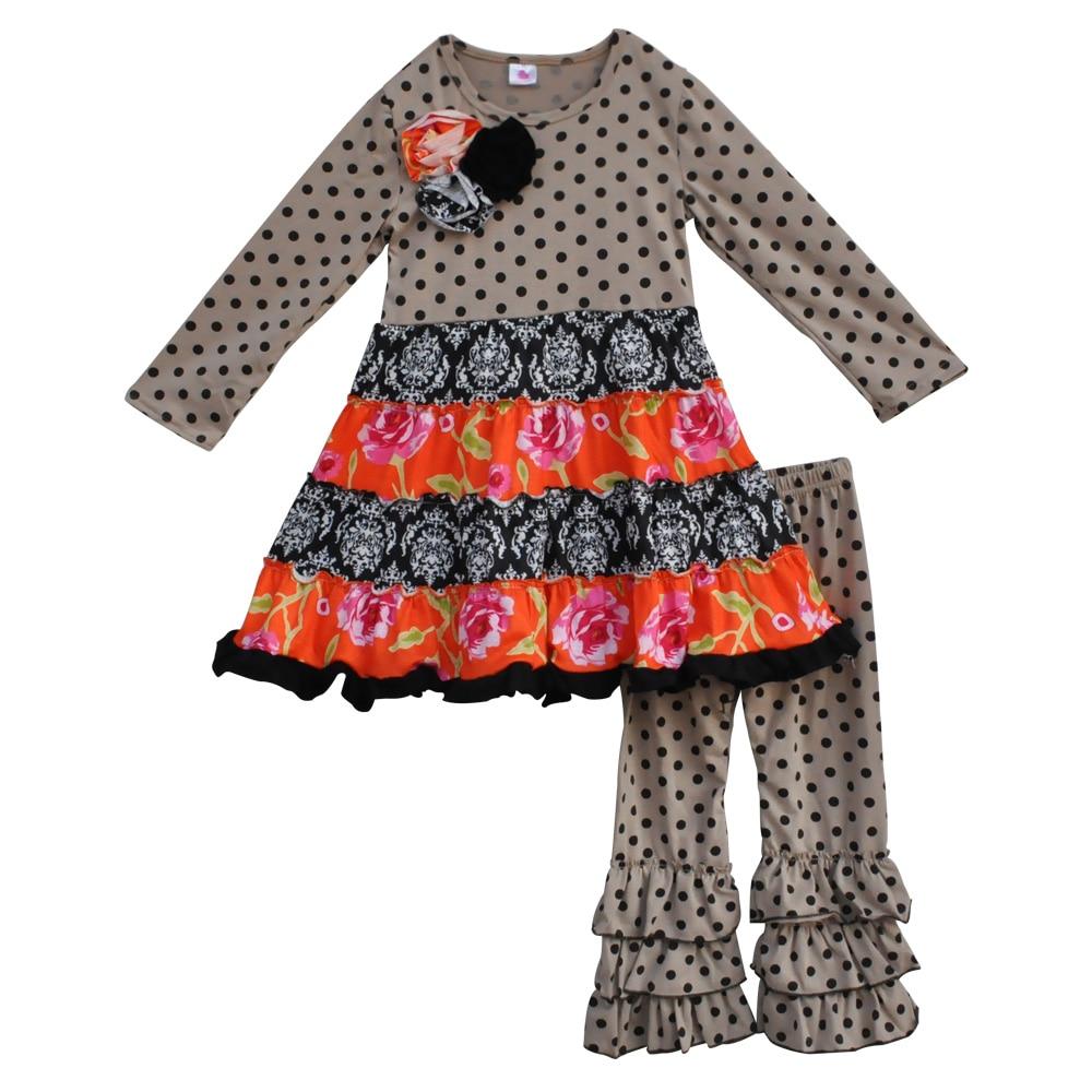 syksy talvi lapset kahvi polka pisteet hihamekot vaatteet vauva asu - Lastenvaatteet