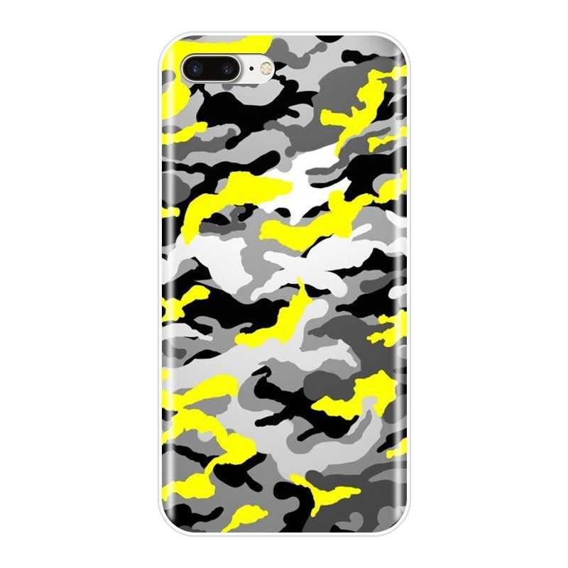 التمويه العسكرية كامو جراب هاتف لأبل اي فون 6 S 6 S 7 8 X XR XS ماكس سيليكون لينة عودة غطاء ل فون 8 7 6 S 6 S زائد