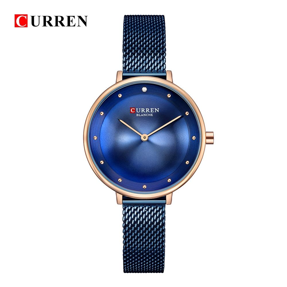 купить Dropship 2018 Famous Brand Gold Silver Casual Quartz Watch Women Mesh Stainless Steel Dress Women Watches Relogio Feminino Clock по цене 801.53 рублей