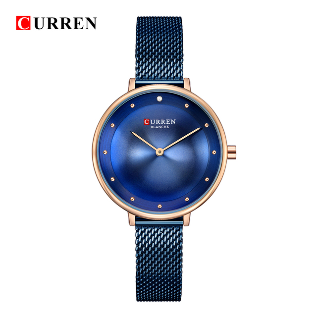 Dropship 2018 Famous Brand Gold Silver Casual Quartz Watch Women Mesh Stainless