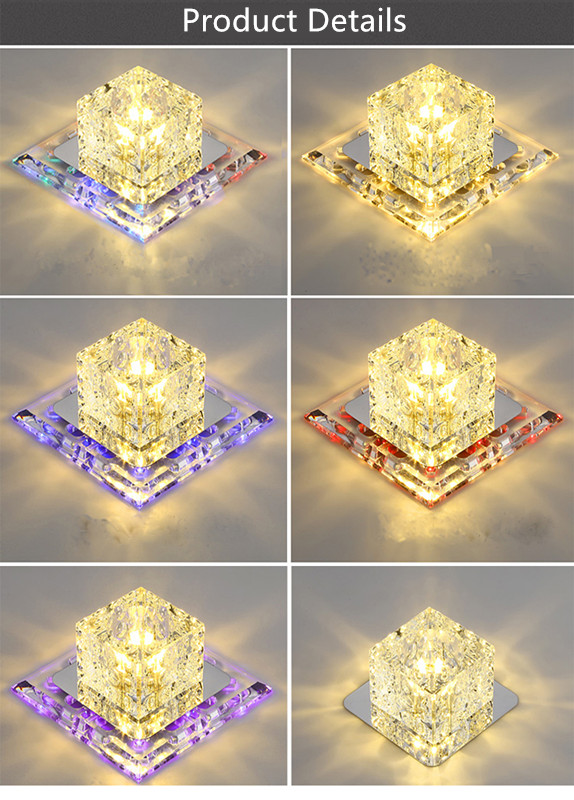 luzes do corredor para iluminação decorativa embutida lâmpada led
