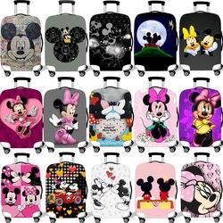 Bagagem Capa Protetora Caso Para Elástico 18-32 Polegada Mala Capa Protetora Casos Covers Acessórios de Viagem Xl Mickey Minnie