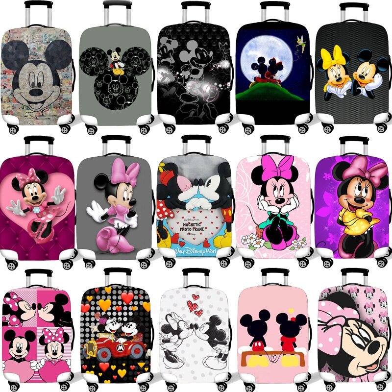 Funda protectora de equipaje para maleta elástica de 18-32 pulgadas Fundas protectoras fundas Xl accesorios de viaje Mickey Minnie