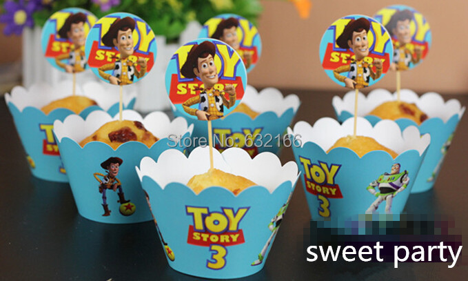 Free Shipping toy story 3 boy cupcake wrappers decoration