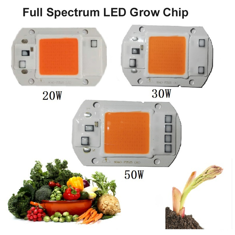 KINLAMS AC110V 220V Full Spectrum 380~780nm Hydroponic Grow Light Beads For Plants LED Indoor Led Grow Light 20w 30w 50w
