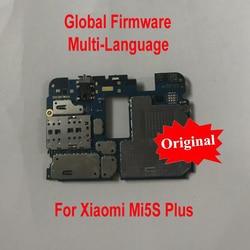 Global Firmware Original Unlock Working Mainboard For Xiaomi Mi5S Mi 5S Plus Mi5SPlus Motherboard card fee chipsets flex cable