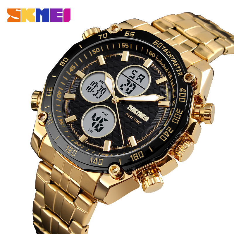 <font><b>SKMEI</b></font> Luxury Sport Casual Watch Men Fashion Quartz Waterproof Stopwatch Business Clock Military Wristwatches Relogio Masculino image