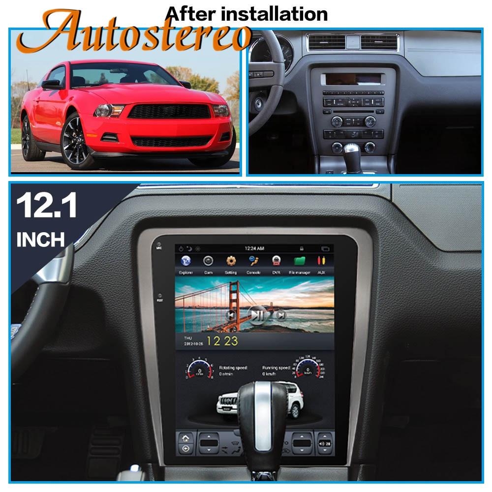 Android Tesla стиль автомобиля нет DVD плеер gps навигация для Ford Mustang 2010-2014 Autostereo головное устройство мультимедийный магнитофон