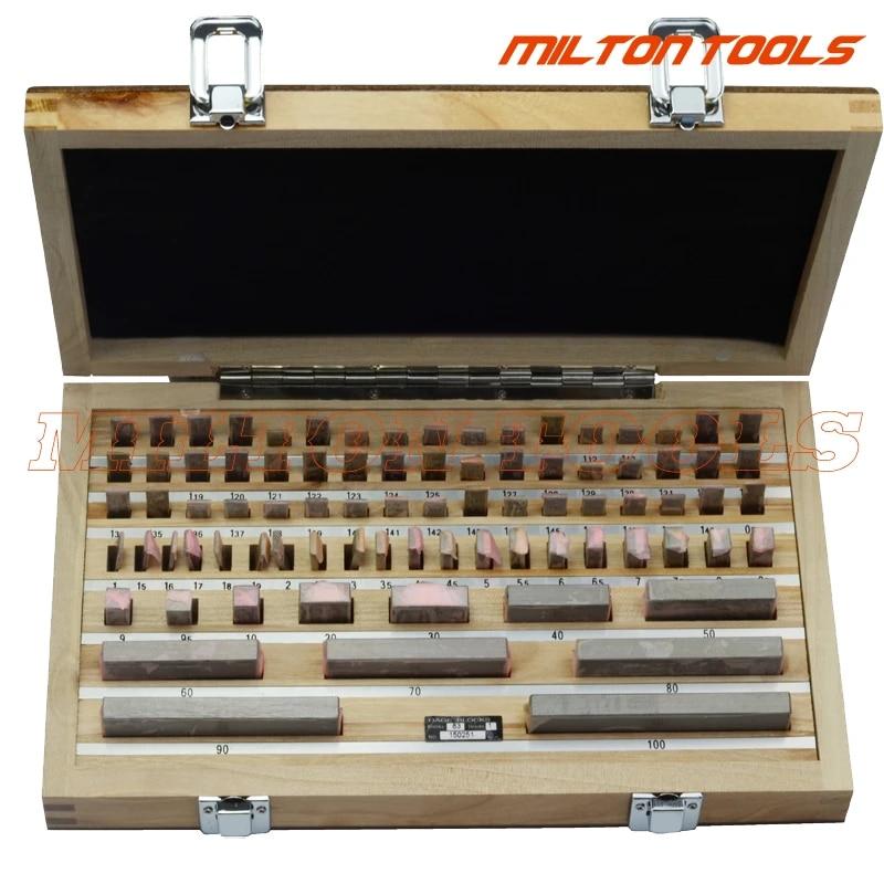 Block Gauge Set 83pcs//set 0 Grade 0.5-100mm High Precision