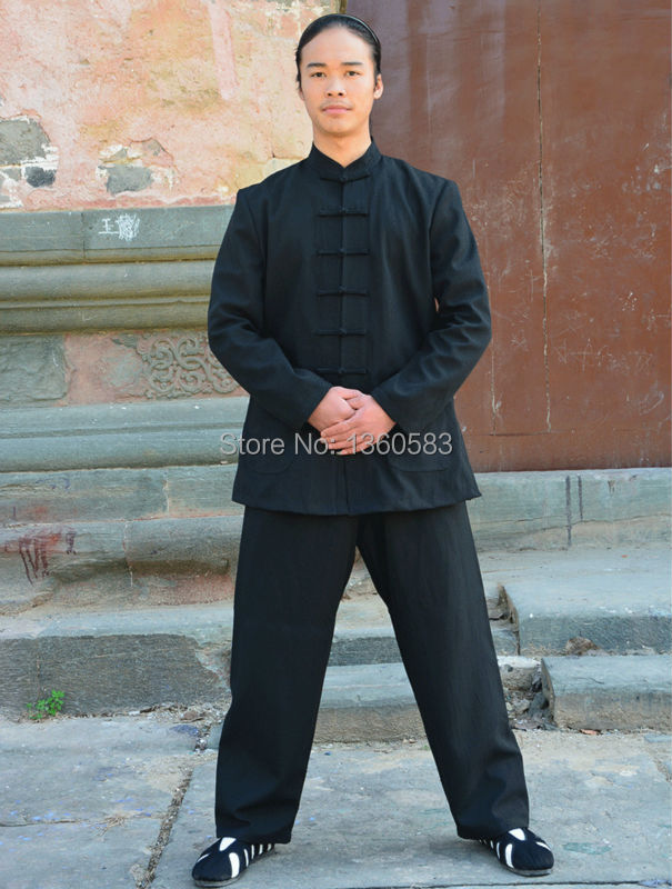 Осень и зима толщиной белье кунг-фу одежда китайские мужчины и женщины стиль тай-чи форма тай-чи боевых искусств Wudang одежда