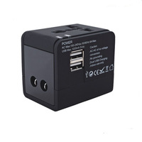 Yulass Universal Travel Power AC Adapter Plug With Dual USB Port AU US UK EU