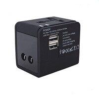 Yulass Universal Travel Power AC Adapter Plug With Dual USB Port AU US UK EU