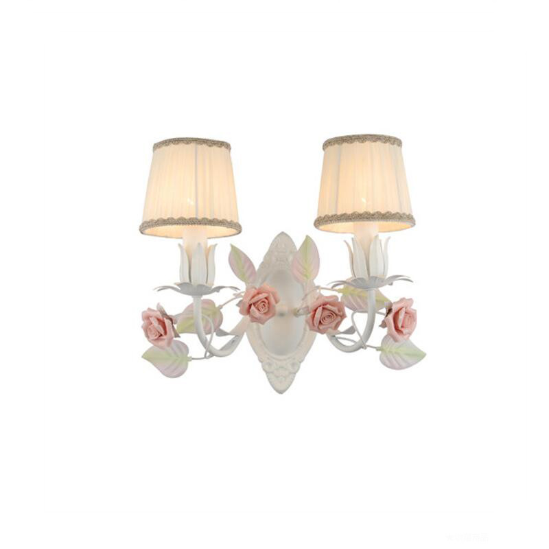 Nordic White LED Sconces Wall Lighting Fixtures Double Head,Linen Fabric Wall Light Lamp lighting For Bedside Balcony Bedroom modern aluminium wall lamp sconces with fluorescent tube for bedroom study balcony lighting bg44