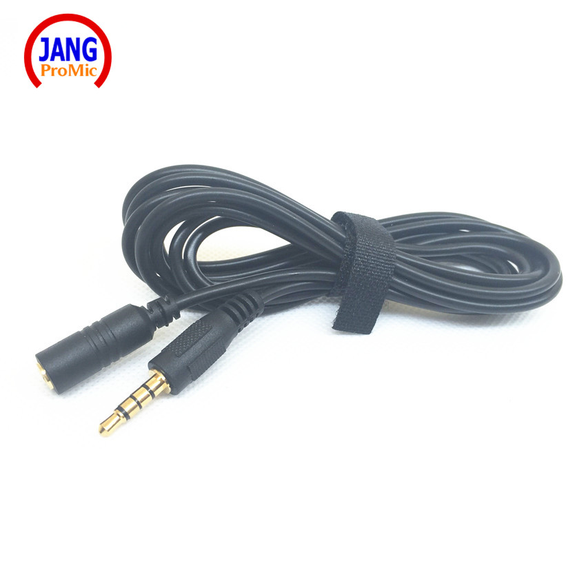 Professional 2m Length Microphone Cable Mobile Phone Microphone Earphone Extend Cable 3.5mm Stereo Jack 4 Poles Microfone