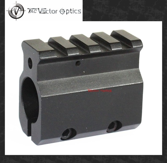 """Vector Optics Low Profile Gas Block Mount for 0.75"""" Barrel with 20mm Picatinny Rail for 5.56 .223 Caliber Black"""