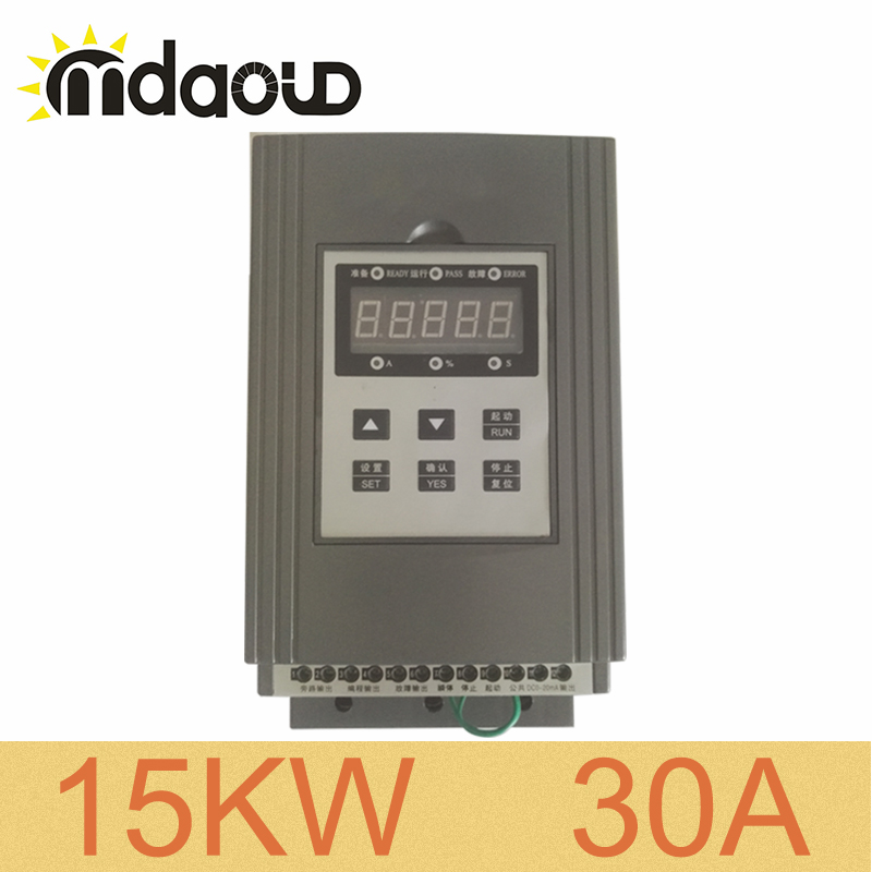 380V three phase 15KW/ 30A soft starter for three phase AC asynchronous motor squirrel cage motor motor soft starter 380v 18 5kw 3 phase input