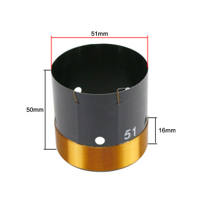 Image 2 - GHXAMP 51mm Bass Voice Coil Woofer 8ohm Repair Parts With Vent hole 2 layer Round Copper Wire 200 280W 1pc