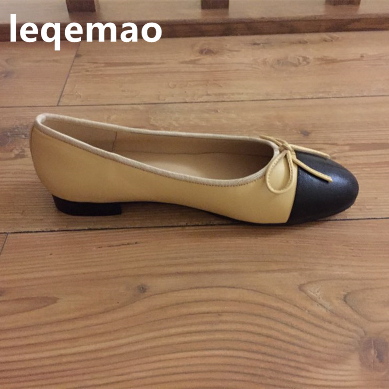 New Fashion Spring Autumn Women Bowite Casual Ballet Shallow Flats Genuine Leather Shoes Office Ladies Loafers Mixed Color 34-42New Fashion Spring Autumn Women Bowite Casual Ballet Shallow Flats Genuine Leather Shoes Office Ladies Loafers Mixed Color 34-42