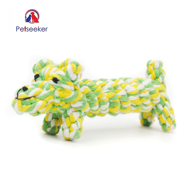 New Lovely Pet  Toys Knotties Chew Toys For Small dogs  And Puppy Cat  Dental Floss Cotton Rope Animal Shape